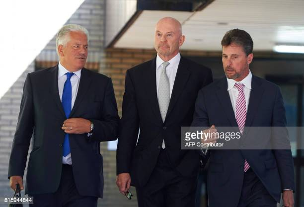 Former Barclays head of investment banking and investment management in the Middle East Roger Jenkins leaves Southwark Crown Court in south London on...