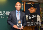 Former baseball pitcher Mariano Rivera promotes 'The Closer My Story' book at Barnes Noble 5th Avenue on May 6 2014 in New York City