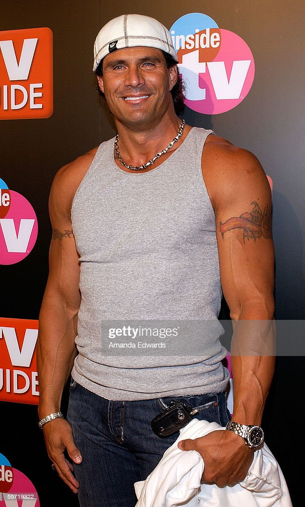 Former baseball player and author <a gi-track='captionPersonalityLinkClicked' href=/galleries/search?phrase=Jose+Canseco&family=editorial&specificpeople=203063 ng-click='$event.stopPropagation()'>Jose Canseco</a> arrives at the TV Guide & Inside TV 2005 Emmy after party held at the Hollywood Roosevelt Hotel on September 18, 2005 in Hollywood, California.