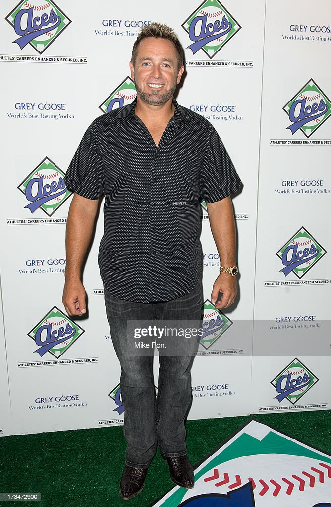 Former Baseball Player and MLB Network Analyst <a gi-track='captionPersonalityLinkClicked' href=/galleries/search?phrase=Kevin+Millar&family=editorial&specificpeople=171578 ng-click='$event.stopPropagation()'>Kevin Millar</a> attends the ACES Annual All Star Party at Marquee on July 14, 2013 in New York City.