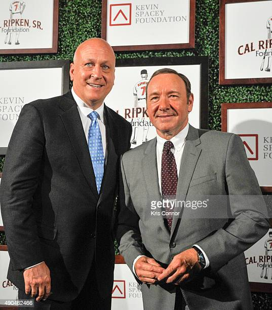 Former baseball player Cal Ripken Jr and actor Kevin Spacey attend the 'Under The Lights A Gala Night With Kevin Spacey And Cal Ripken Jr' Gala at...