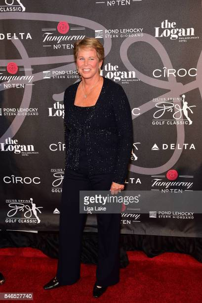 Former Basketball Player Ann Myers Drysdale attends the Erving Golf Classic Black Tie Ball sponsored by Delta Airlines Pond LeHocky Law with...