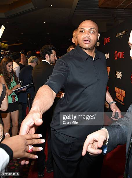 Former basketball player Charles Barkley attends the SHOWTIME And HBO VIP PreFight Party for 'Mayweather VS Pacquiao' at MGM Grand Hotel Casino on...