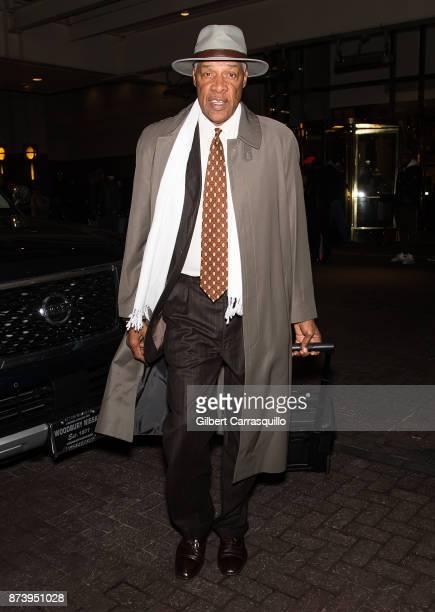 Former basketball player Julius Erving is seen leaving Free Meek Mill rally on November 13 2017 in Philadelphia Pennsylvania