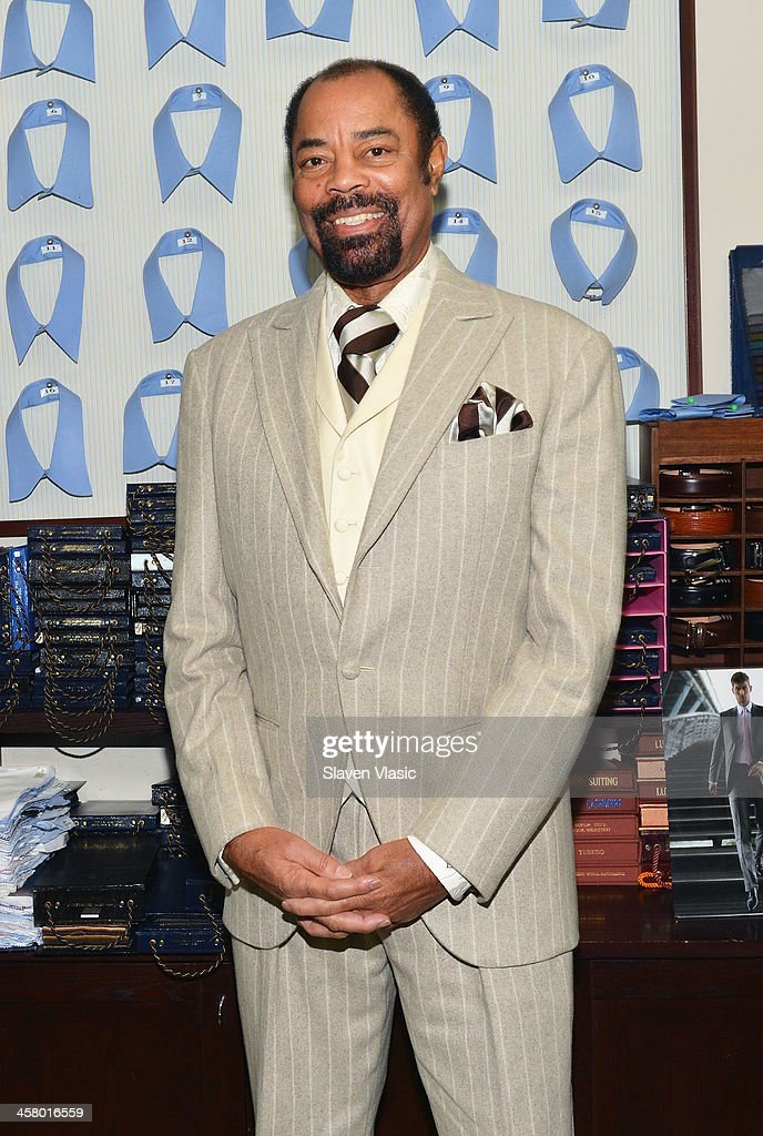 Former basketball player Walt 'Clyde' Frasier attends the 2013 Mohan's Winter Coat Drive benefiting The Doe Fund at Mohan's Custum Tailors on December 19, 2013 in New York, United States.