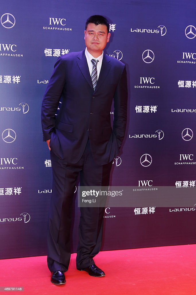 Former Basketball player Yao Ming of China attends the 2015 Laureus World Sports Awards at Shanghai Grand Theatre on April 15, 2015 in Shanghai, China.