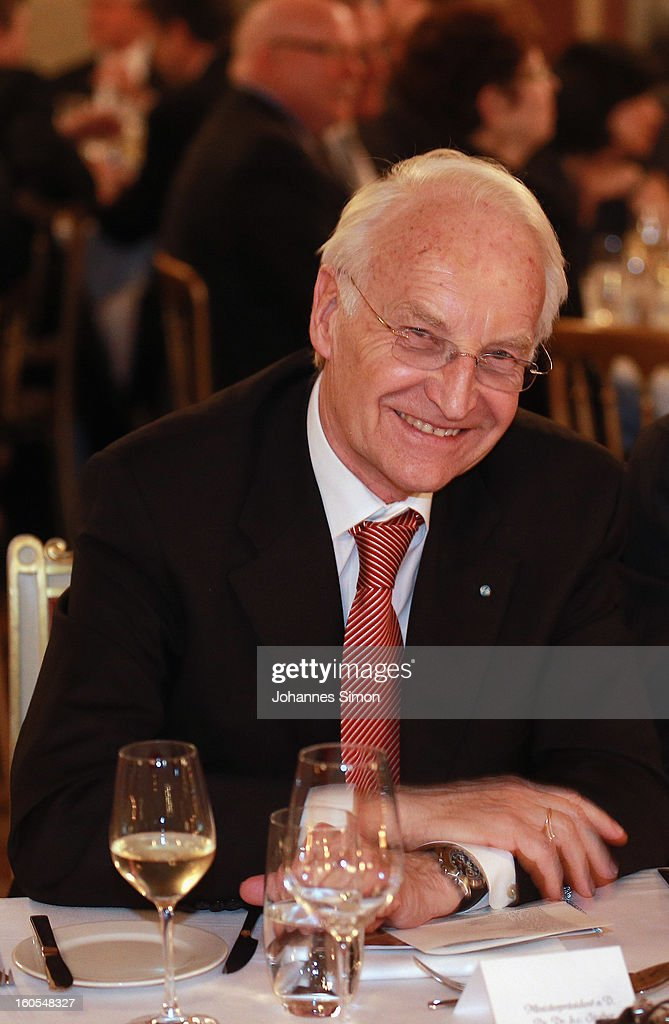 Former Bavarian state governor <a gi-track='captionPersonalityLinkClicked' href=/galleries/search?phrase=Edmund+Stoiber&family=editorial&specificpeople=208950 ng-click='$event.stopPropagation()'>Edmund Stoiber</a> attends a gala dinner for the participants of the Munich conference at Munich royal residence on security policy on February 2, 2013 in Munich, Germany. The Munich Security Conference brings together senior figures from around the world to engage in an intensive debate on current and future security challenges and remains the most important independent forum for the exchange of views by international security policy decision-makers.