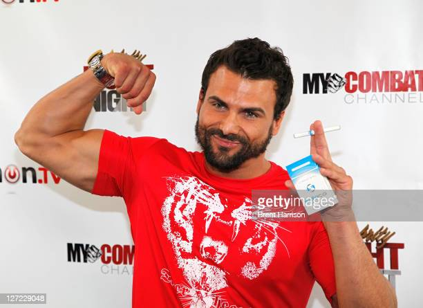 Former Baywatch star Jeremy Jackson attends Celebrity Fight Night Official Press Conference at 9021GO Showroom on September 26 2011 in Beverly Hills...