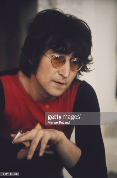 Former Beatle John Lennon at his home Tittenhurst Park near Ascot Berkshire July 1971