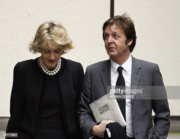 Former Beatle Paul McCartney and his lawyer Fiona Shackleton arrive at the High Court in central London on February 15 2008 Hopes for a lastditch...