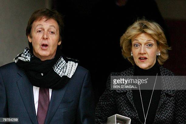 Former Beatle Paul McCartney and his lawyer Fiona Shackleton leave the High Court in London on February 14 2008 Paul McCartney's estranged wife...