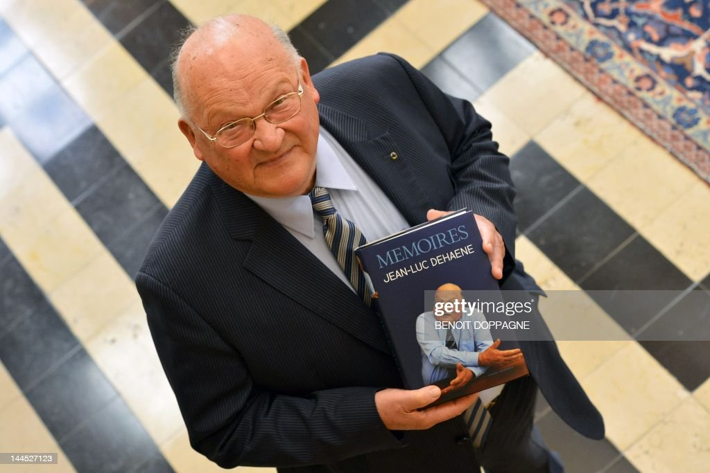 Former Belgian Prime Minister <a gi-track='captionPersonalityLinkClicked' href=/galleries/search?phrase=Jean-Luc+Dehaene&family=editorial&specificpeople=2586798 ng-click='$event.stopPropagation()'>Jean-Luc Dehaene</a> looks on during a press conference to present his book 'Memoires. <a gi-track='captionPersonalityLinkClicked' href=/galleries/search?phrase=Jean-Luc+Dehaene&family=editorial&specificpeople=2586798 ng-click='$event.stopPropagation()'>Jean-Luc Dehaene</a>', in Brussels on May 15, 2012.