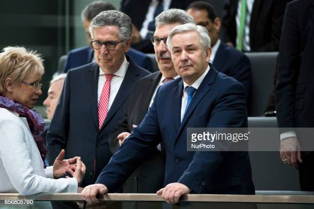 Former Berlin's mayor Klaus Wowereit attends the swearingin ceremony of new German President FrankWalter Steinmeier during a common session of the...