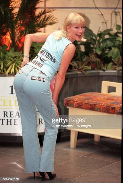Former Big Breakfast presenter Denise Van Outen poses for the media in London's Hyatt Carlton Tower Hotel after being named Rear Of The Year Singer...
