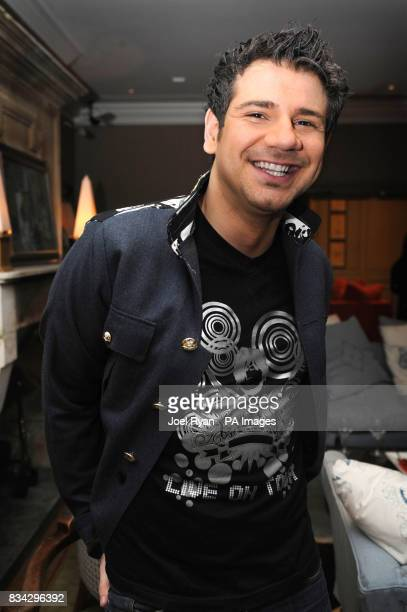 Former Big Brother contestant Gerry Stergiopoulos at the Wedding of the Year show in the Charlotte Street Hotel in central London