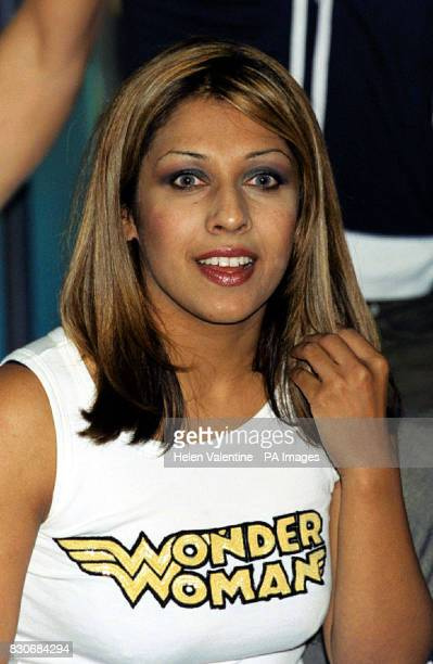 Former Big Brother contestant Narinder Kaur at Channel 4's London headquarters to promote Big Brother 2 The Official Unseen Story by Jean Ritchie...