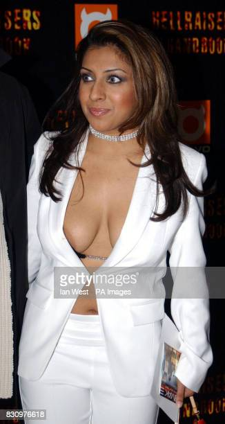 Former Big Brother contestant Narinder Kaur at the Hell Raisers Handbook TV series launch party at Elysium on London's Regent Street