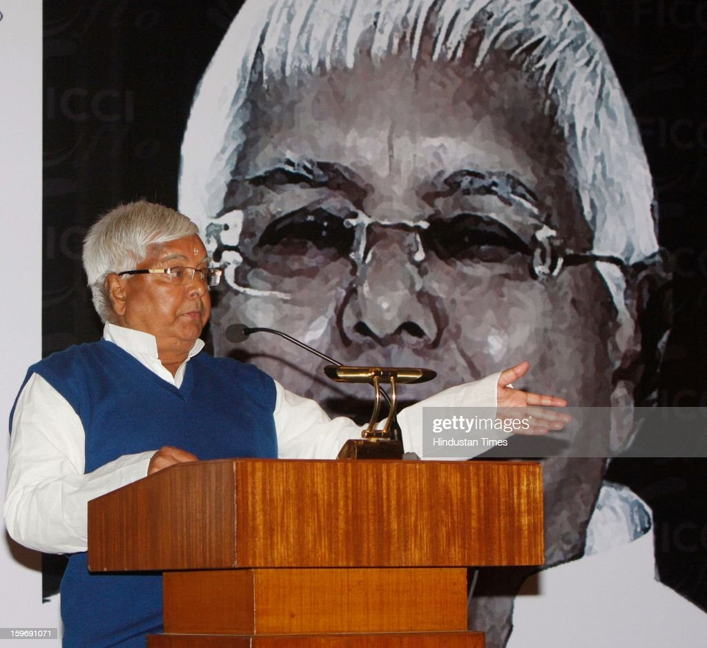 Former Bihar Chief Minister Lalu Prasad Yadav at the 'Women's Empowerment Let's Talk- Security First' function, organized by FICCI on January 18, 2013 in Kolkata, India.