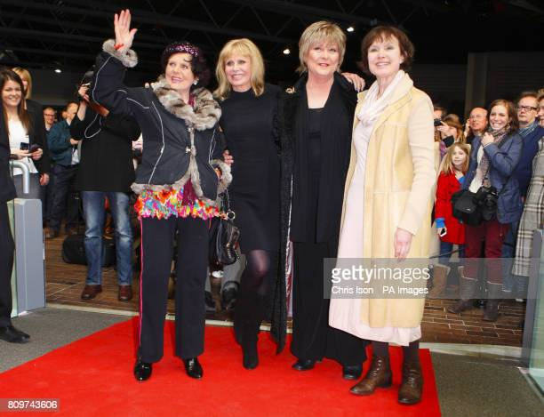 Former Bond girls Eunice Gayson Britt Ekland Jenny Hanley and Madeline Smith at a new exhibition Bond in Motion at the National Motor Museum Beaulieu...