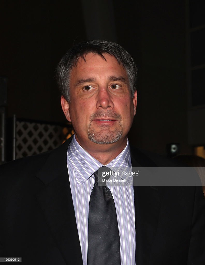 Former Boston Bruins player <a gi-track='captionPersonalityLinkClicked' href=/galleries/search?phrase=Cam+Neely&family=editorial&specificpeople=211479 ng-click='$event.stopPropagation()'>Cam Neely</a> arrives for the Hockey Hall of Fame induction ceremony at Brookfield Place on November 12, 2012 in Toronto, Canada.