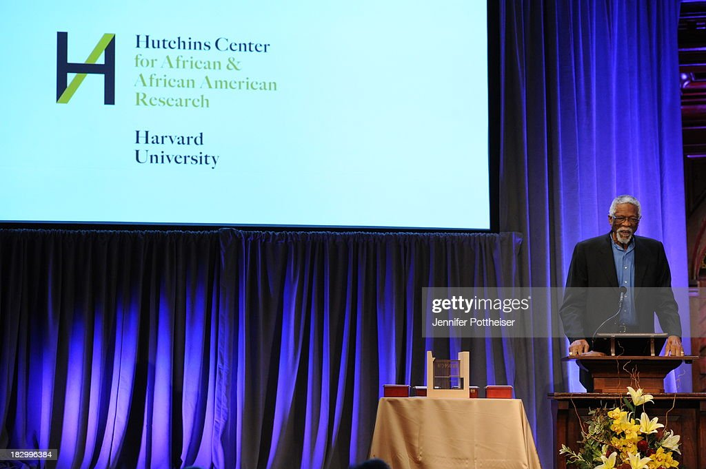 Former Boston Celtics player Bill Russell presents at the 2013 W.E.B. Du Bois Medal at a ceremony at Harvard University's Sanders Theatre on October 2, 2013 in Cambridge, Massachusetts.