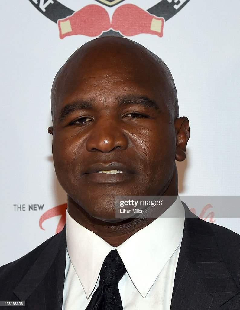 Former boxer and inductee Evander Holyfield arrives at the second annual Nevada Boxing Hall of Fame induction gala at the New Tropicana Las Vegas on August 9, 2014 in Las Vegas, Nevada.