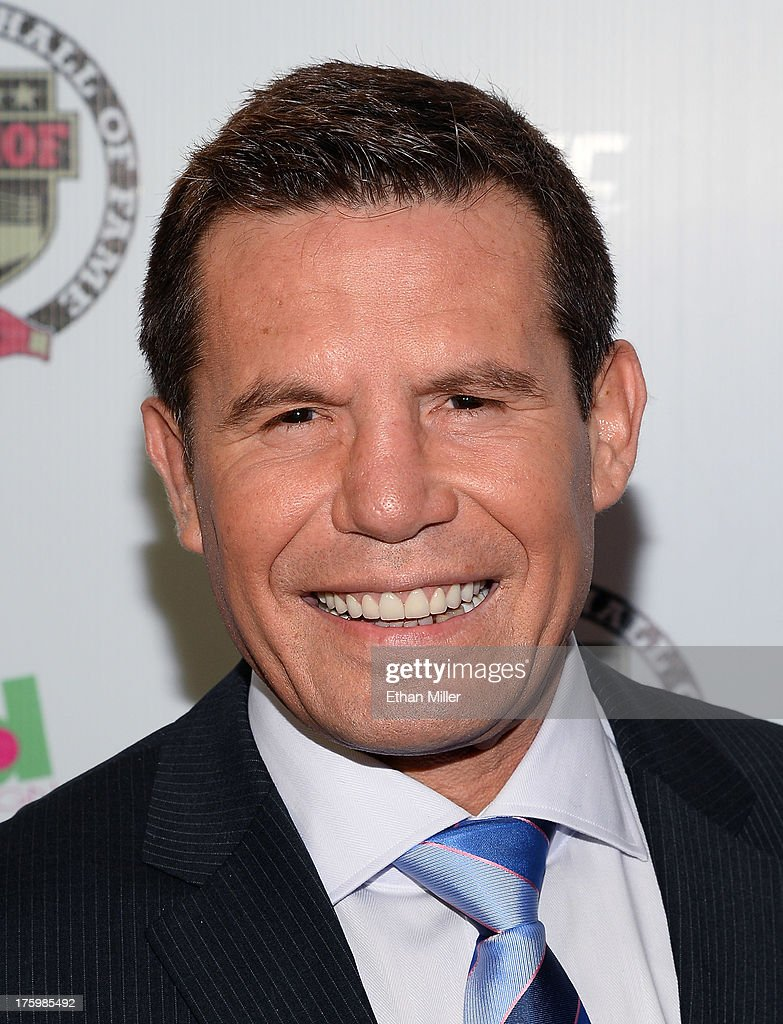 Former boxer and inductee Julio Cesar Chavez arrives at the Nevada Boxing Hall of Fame inaugural induction gala at the Monte Carlo Resort and Casino on August 10, 2013 in Las Vegas, Nevada.