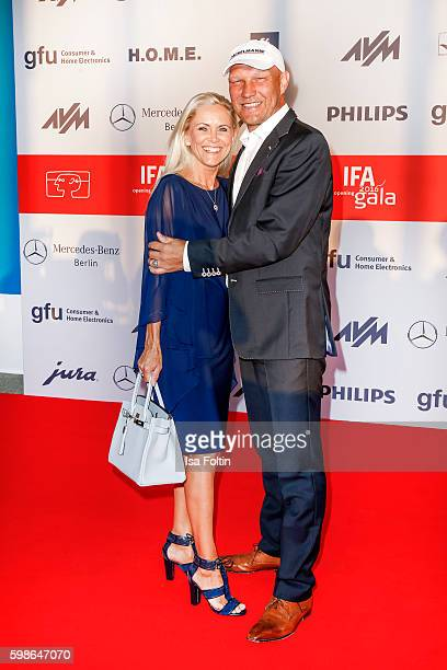 Former boxer Axel Schulz and his wife Patricia Schulz attend the IFA 2016 opening gala on September 1 2016 in Berlin Germany