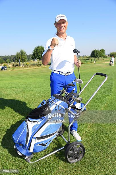 Former Boxer Axel Schulz attends the GRK Golf Charity Masters on August 27 2016 in Leipzig Germany
