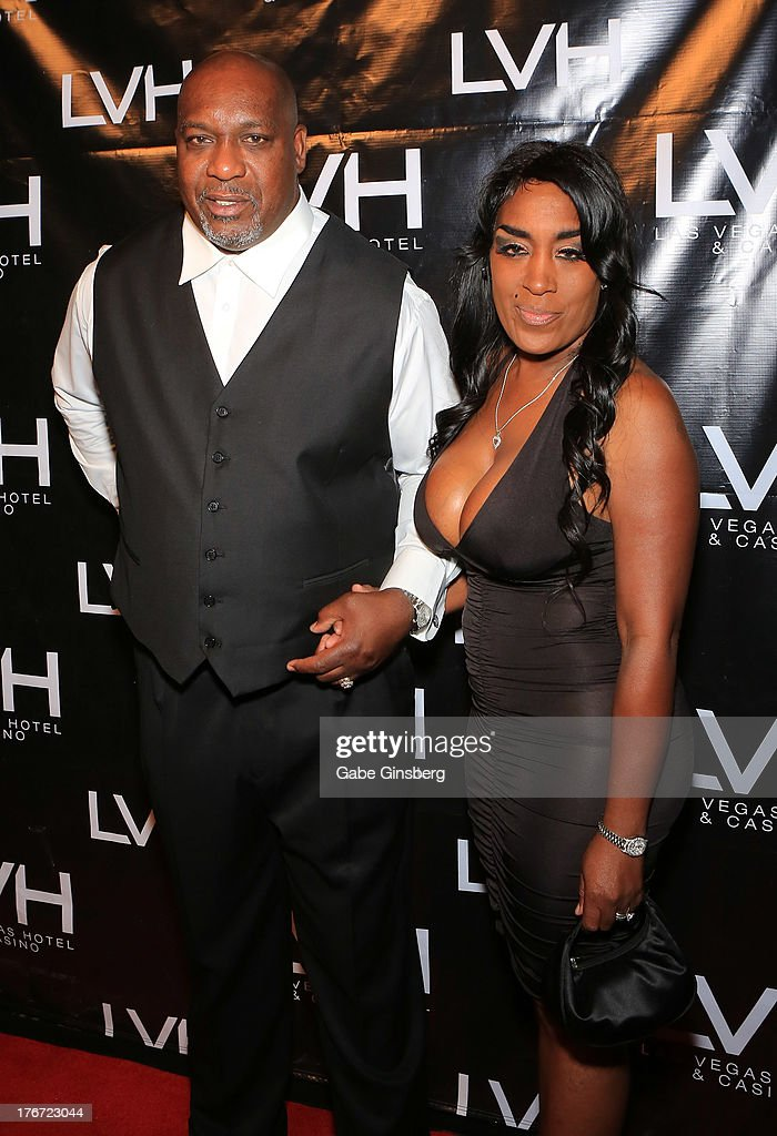 Former boxer Henry Tillman (L) and his wife Joan Tillman arrive at the 'Night of the Champion' event to honor former boxer Leon Spinks hosted by the cast members of 'Raiding the Rock Vault' at The Las Vegas Hotel & Casino on August 17, 2013 in Las Vegas, Nevada.