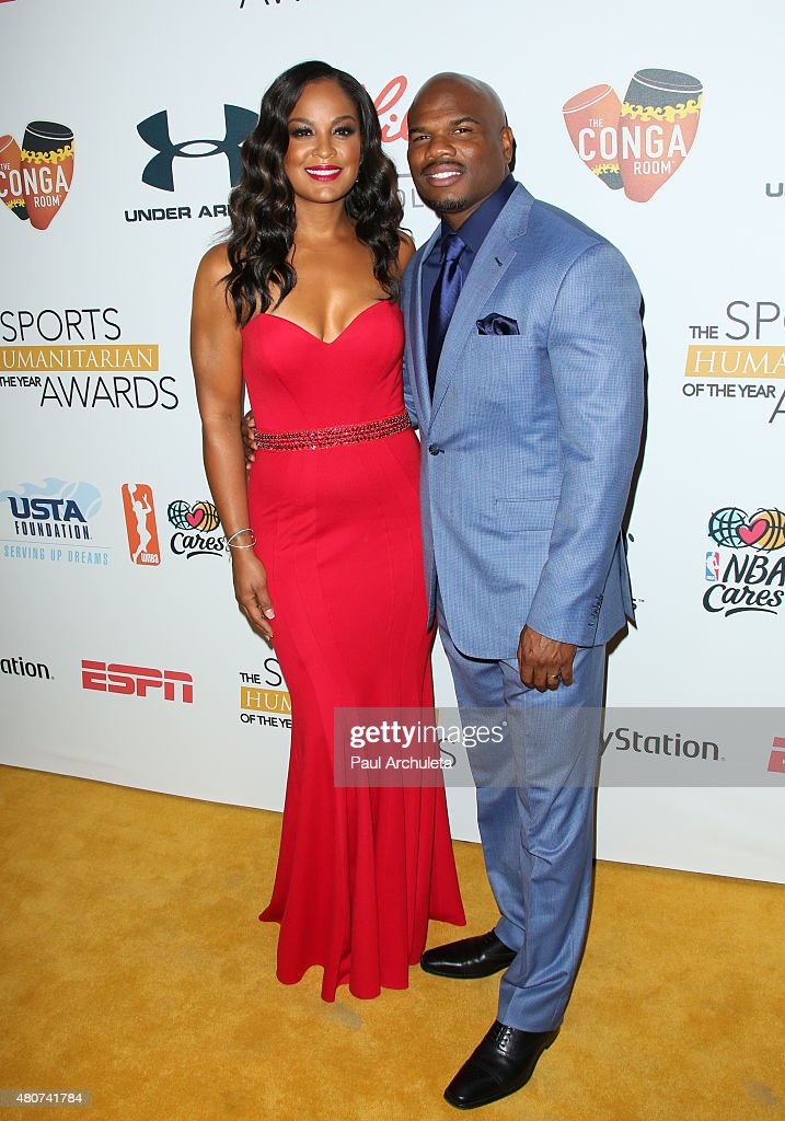 Former Boxer Laila Ali and Former NFL Receiver Curtis Conway attend the 2015 Sports Humanitarian Of The Year Awards at The Conga Room at LA Live on...