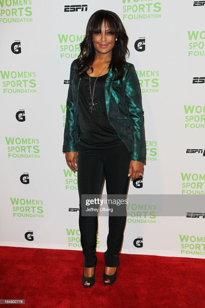 Former boxer <a gi-track='captionPersonalityLinkClicked' href=/galleries/search?phrase=Laila+Ali+-+Boxer&family=editorial&specificpeople=204687 ng-click='$event.stopPropagation()'>Laila Ali</a> attends the 33rd Annual Salute To Women In Sports Gala at Cipriani Wall Street on October 17, 2012 in New York City.