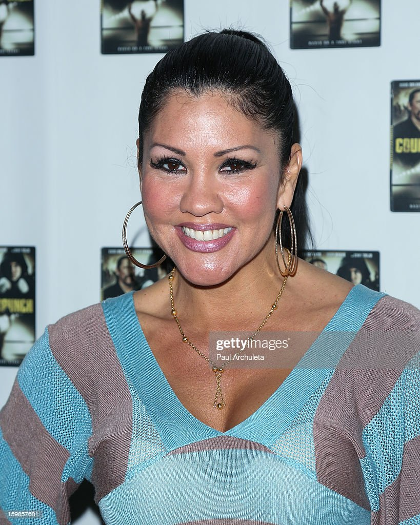 Former Boxer <a gi-track='captionPersonalityLinkClicked' href=/galleries/search?phrase=Mia+St.+John&family=editorial&specificpeople=580551 ng-click='$event.stopPropagation()'>Mia St. John</a> attends the Counterpunch screening at the Downtown Independent Theatre on January 20, 2013 in Los Angeles, California.