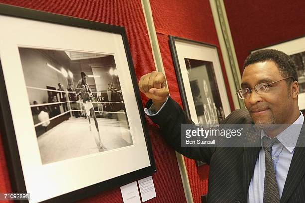 Former boxer Michael Watson attends the charity auction at Christie's May 31 2006 in London England The evening's event was raising money for the...