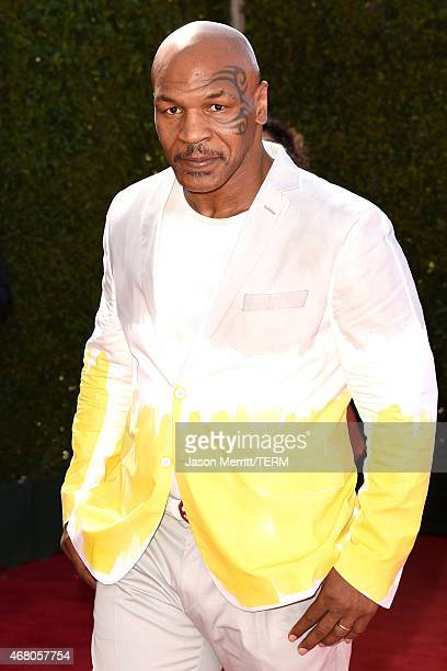 Former boxer Mike Tyson attends the 2015 iHeartRadio Music Awards which broadcasted live on NBC from The Shrine Auditorium on March 29 2015 in Los...