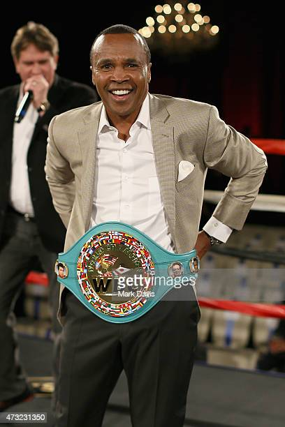 Former Boxer Sugar Ray Leonard attends B Riley Co And Sugar Ray Leonard Foundation's 6th Annual 'Big Fighters Big Cause' Charity Boxing Night at The...