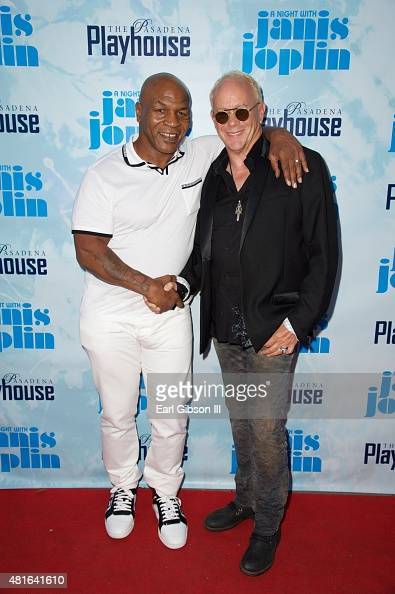 Former Boxer/Actor Mike Tyson and Director Randy Johnson attend 'A Night With Janis Joplin' Los Angeles Opening Night Performance at Pasadena...