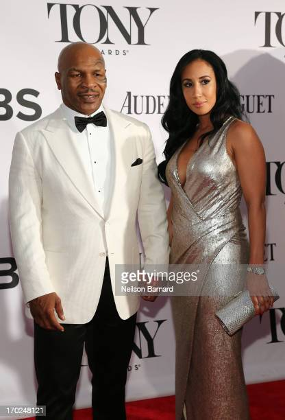 Former boxer/actor Mike Tyson and Lakiha Spicer attend The 67th Annual Tony Awards at Radio City Music Hall on June 9 2013 in New York City