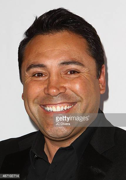 Former boxing champion Oscar De La Hoya attends Latinos De Hoy Awards at The Los Angeles Times Chandler Auditorium on October 11 2014 in Los Angeles...