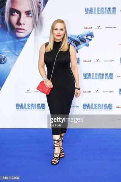 Former boxing champion Regina Halmich during the 'Valerian Die Stadt der Tausend Planeten' premiere at CineStar on July 19 2017 in Berlin Germany