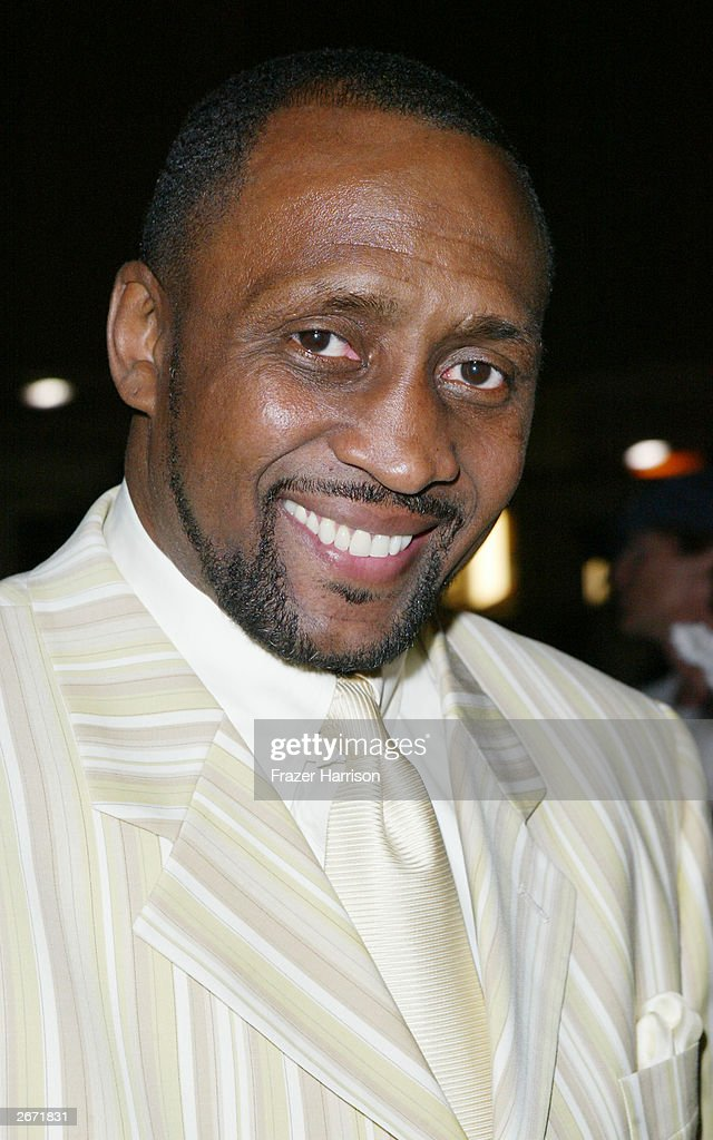 Former boxing champion, Thomas 'The Hit Man' Hearns poses backstage at the 2003 Radio Music Awards at the Aladdin Hotel and Casino, October 27, 2003 in Las Vegas, Nevada.