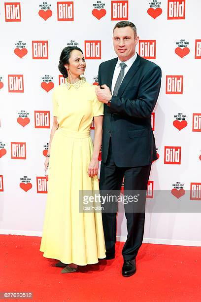 Former boxing champion Vitali Klitschko and his wife Natalia Klitschko attend the Ein Herz Fuer Kinder gala on December 3 2016 in Berlin Germany