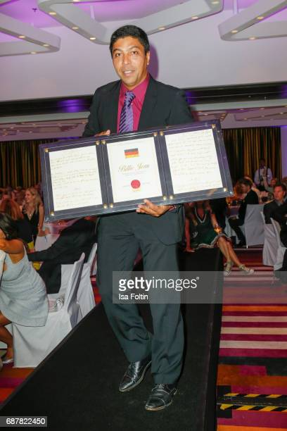 Former brasilian soccer player Giovane Elber during the Kempinski Fashion Dinner on May 23 2017 in Munich Germany