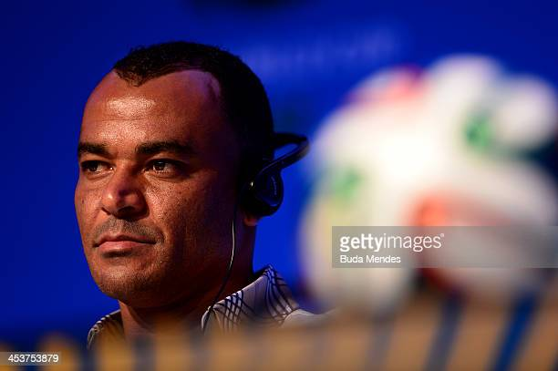 Former Brazil footballer Cafu attends the Draw Assistants Press Conference during a media day ahead of the 2014 FIFA World Cup Draw at Costa do...