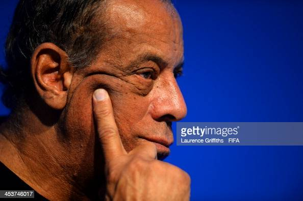 Former Brazil footballer Carlos Alberto Torres attends the FIFA World Cup Ambassadors Press Conference during a media day ahead of the 2014 FIFA...