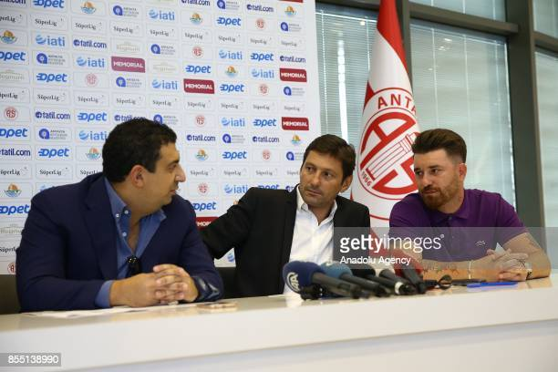 Former Brazilian player and head coach Leonardo Nascimento de Araujo signs for Antalyaspor with the attendance of President of Antalyaspor Ali Safak...