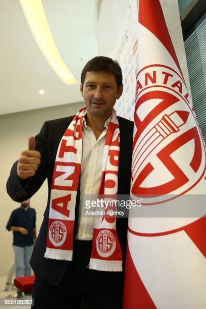 Former Brazilian player and head coach Leonardo Nascimento de Araujo poses for a photo after signing for Antalyaspor at the Atilla Vehbi Konuk Sport...