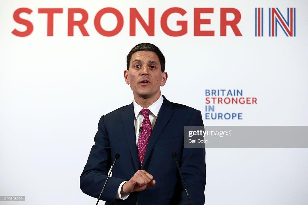 David Miliband Warns Against Leaving The EU