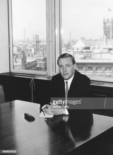 Former British Labour Postmaster General Tony Benn in his new office shortly after his appointment to the post of Minister of Technology London 4th...