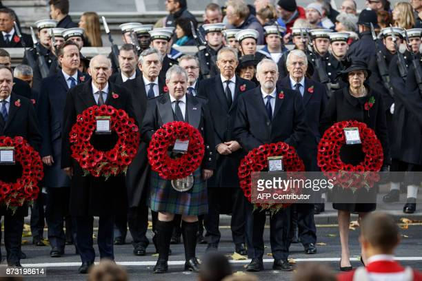 Former British prime minister David Cameron former British prime minister Gordon Brown former British prime minister Tony Blair Britain's opposition...